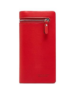 Стильный женский красный кошелек клатч