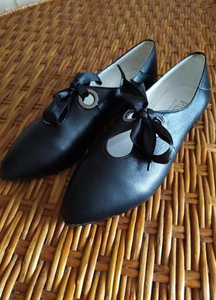 Туфли туфлі балетки кожа