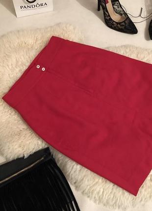 Мега стильная и крутая красная юбка миди по фигуре на р. с/36 ...❤️❤️💋