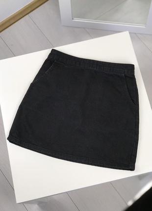 Джинсовая юбка черная