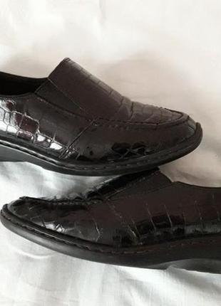Туфли немецкого бренда ara. натуральная кожа. лаковые.германия. очень удобные!!!