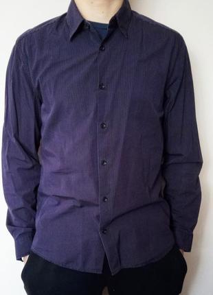 Сорочка h&m/ рубашка в полоску/ длинный рукав