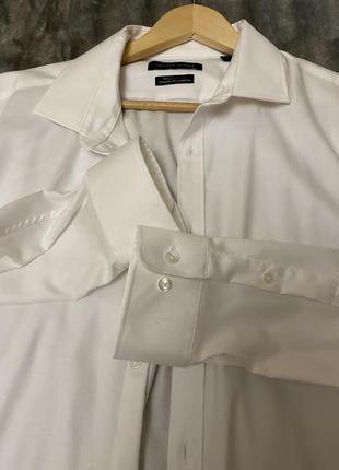 Белая рубашка tommy hilfiger athletic fit