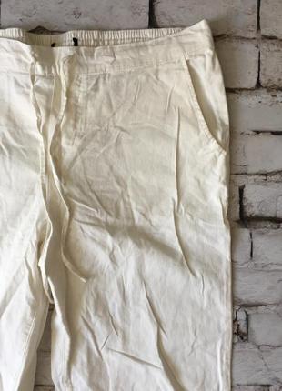 Легкие льняные брюки летние штаны