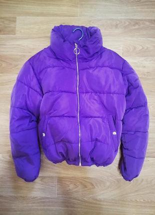 Дутая,дутик короткая зимняя куртка pull and bear