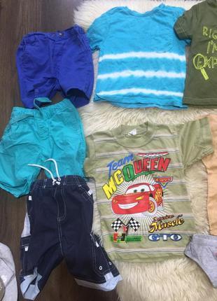 Большой пакет на мальчика летних вещей 2-3 год