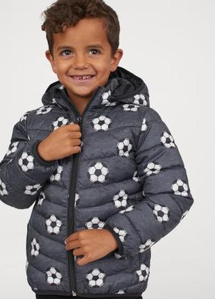 Демисезонная куртка на мальчика h&m футбол