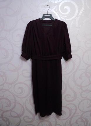 Платье винного цвета, винтаж, ретро, марсала, летнее коктейльное платье на 1 сентября