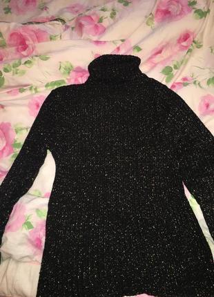 Тёплый свитер с люрексом