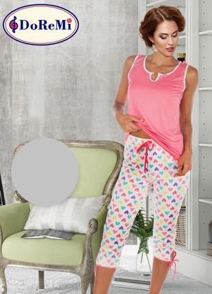 Фемели лук/family look/піжама/пижама/комплект: майка и капри