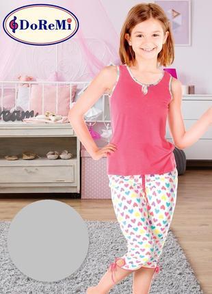 Фемели лук/family look/піжама/пижама/комплект для девочек: майка и капри