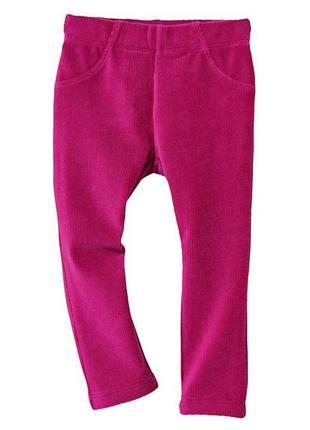 Нові велюрові штани гамаши штаны плотные на девочку дівчинку lupilu 74-80 см 9-12 міс