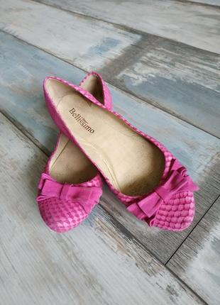 Кожаные туфли-балетки bellissimo. бразилия.