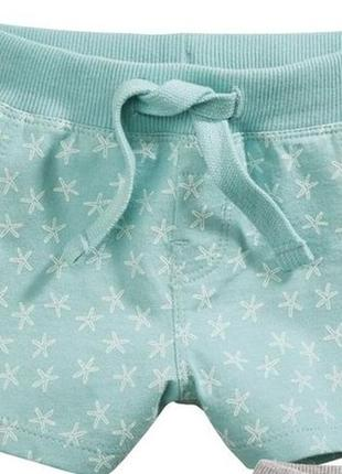 Новые брендовые хлопковые шорты lupilu германия 74-80 см 9-12 месяцев