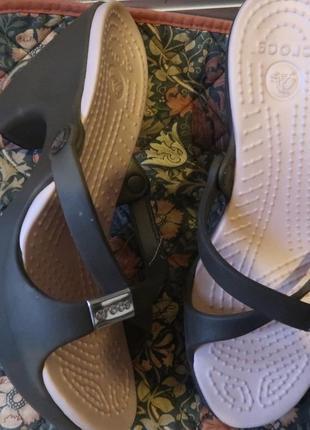 Шлепанцы на платформе каблуке крокс crocs w8 25см