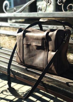 Большая дорожная сумка bagster, сумка для тренировок, кожаная сумка