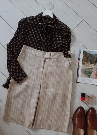 Jj benson  лаконичная юбка миди лен с хлопком,люкс качество и бренд..# 298