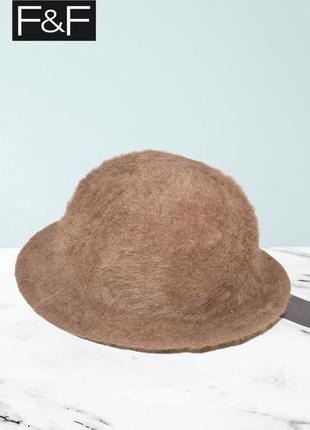 Новая коричневая шляпа f&f