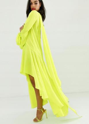 Asos неонова асиметрична сукня