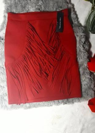 Новая юбка с бахромой