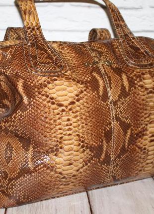 Большая эффектная кожаная сумка dumond 100% натуральная кожа