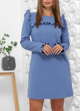 Модное платье с воланами