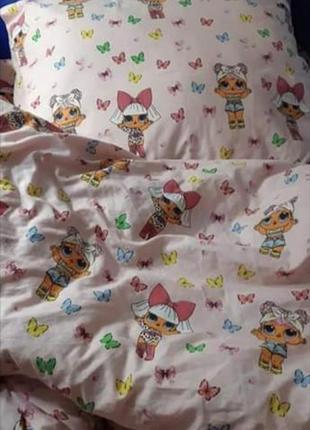 Полуторный постельный комплект куколка лол, новый