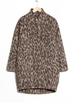 В наличии - леопардовое пальто-оверсайз с ворсом шерсть/мохер!! *& other stories* 6/36 р.