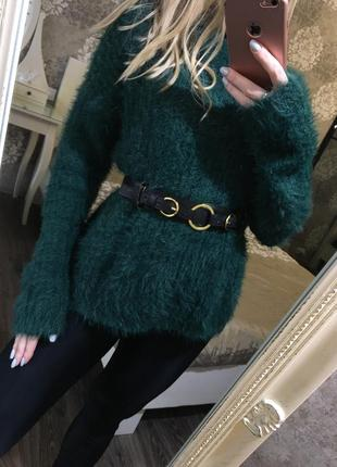 Тёплый мягкий пушистый свитер