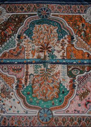 Большой шикарный платок hermes aux portes du palais hermes