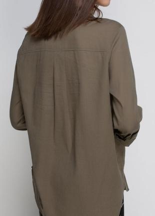 Брендовая рубашка хаки h&m