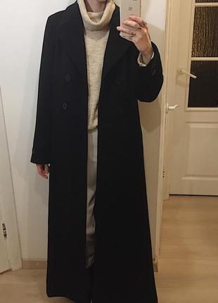 Кашемир+шерсть длинное-макси пальто/пальто в пол из шерсти и кашемира hennes