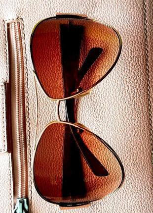 Очки солнцезащитные italy design ☀️ в оправе авиатор 👓 градиентный стиль