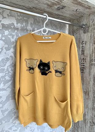 Милый свитерок с котиками