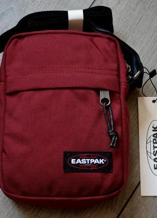 """Сумка мессенджер, барсетка eastpak the one messenger bag ek045 33t """"brave burgundy"""""""