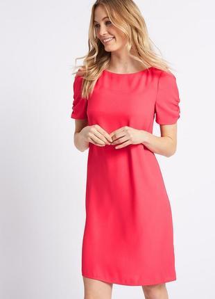 Marks&spencer платье прямого кроя с красивым рукавом, р.16-44, наш 50-й