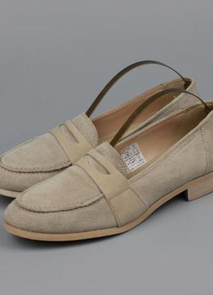 Фирменные замшевые туфли по типу zara mango