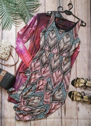 Красивое крутое летнее платье макси длинное с принтом змеи