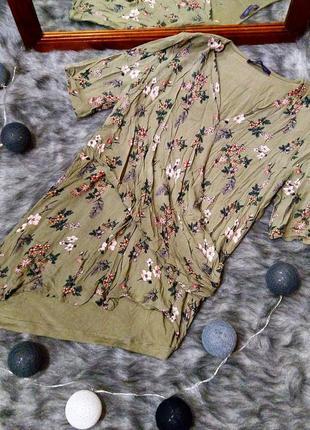 Блуза на запах с ассиметрией marks & spencer