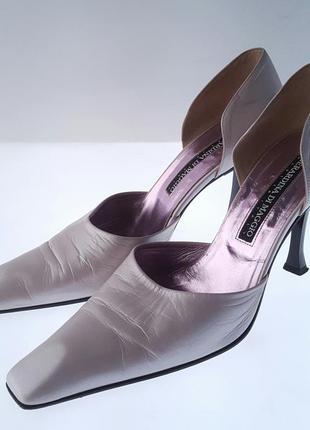 Туфли итальянские туфлі італійські сріблясті ретро