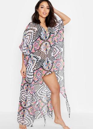 Длинная пляжная туника. пляжное платье