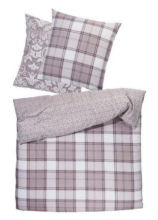 Теплое постельное белье фланель, комплект пододеяльник наволочка meradiso, германия