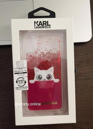 Karl lagerfeld iphone x / xs оригинал! новый брендовый чехол на айфон