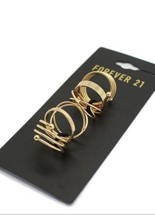 Forever 21 распродажа украшений бижутерии кольцо золотое набор колец на фаланги