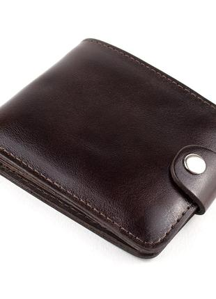 Кожаное портмоне п3-04 (темно-коричневый)