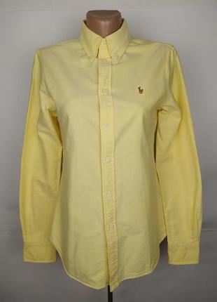 Блуза рубашка плотная оригинальная желтая ralph lauren uk 10/38/s