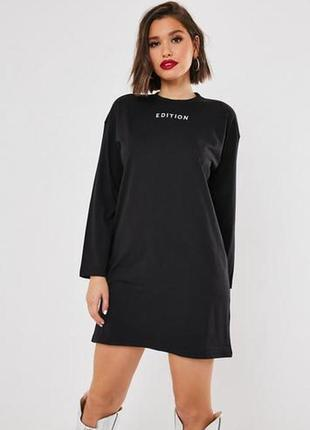 Missguided, платье футболка с надписью. оверсайз