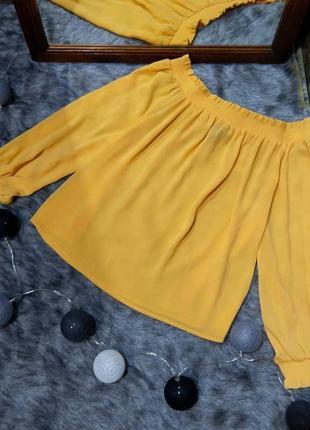 Блуза топ кофточка со спущенными плечами new look