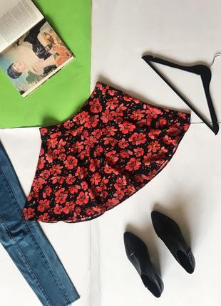 Красивая юбка юбочка в цветы atm. р-р s