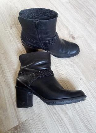 Кожаные ботинки/ботильоны clarks/натуральная кожа, р.40-41